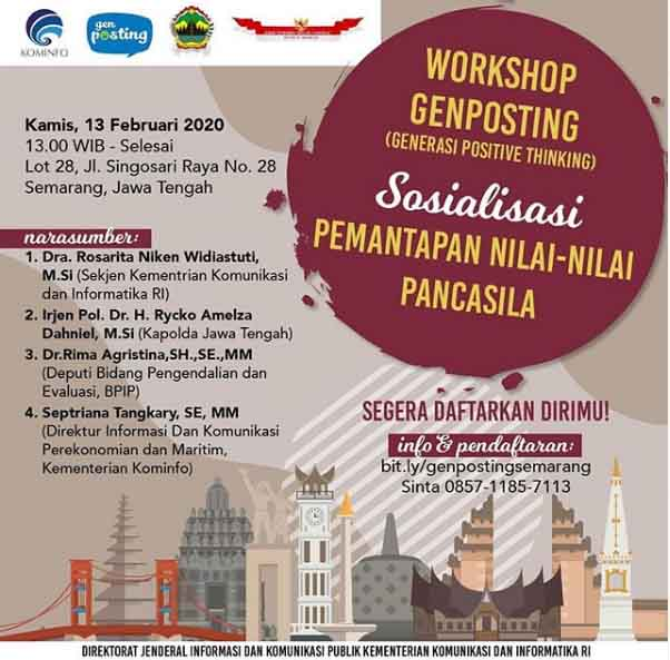 Workshop Gen Posting (Generasu Positif Thingking)