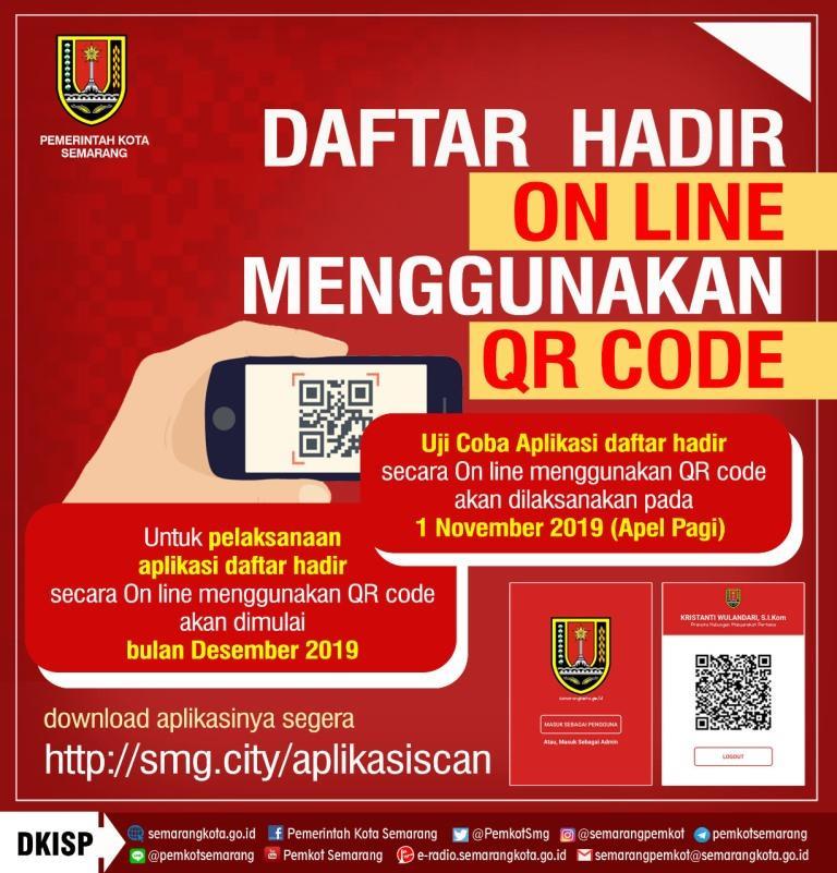 Pemkot Semarang : Daftar Hadir Online Menggunakan Qr Code Lingkungan Asn Balaikota Semarang
