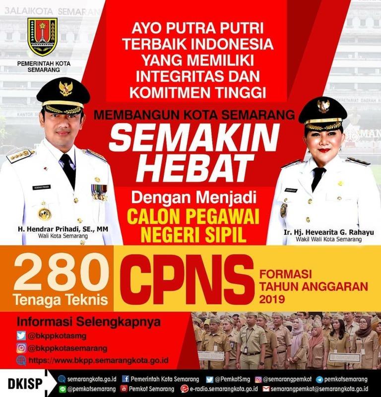 Penerimaan Calon Pegawai Negeri Sipil (CPNS) Pemerintah Kota Semarang Tahun Anggaran 2019
