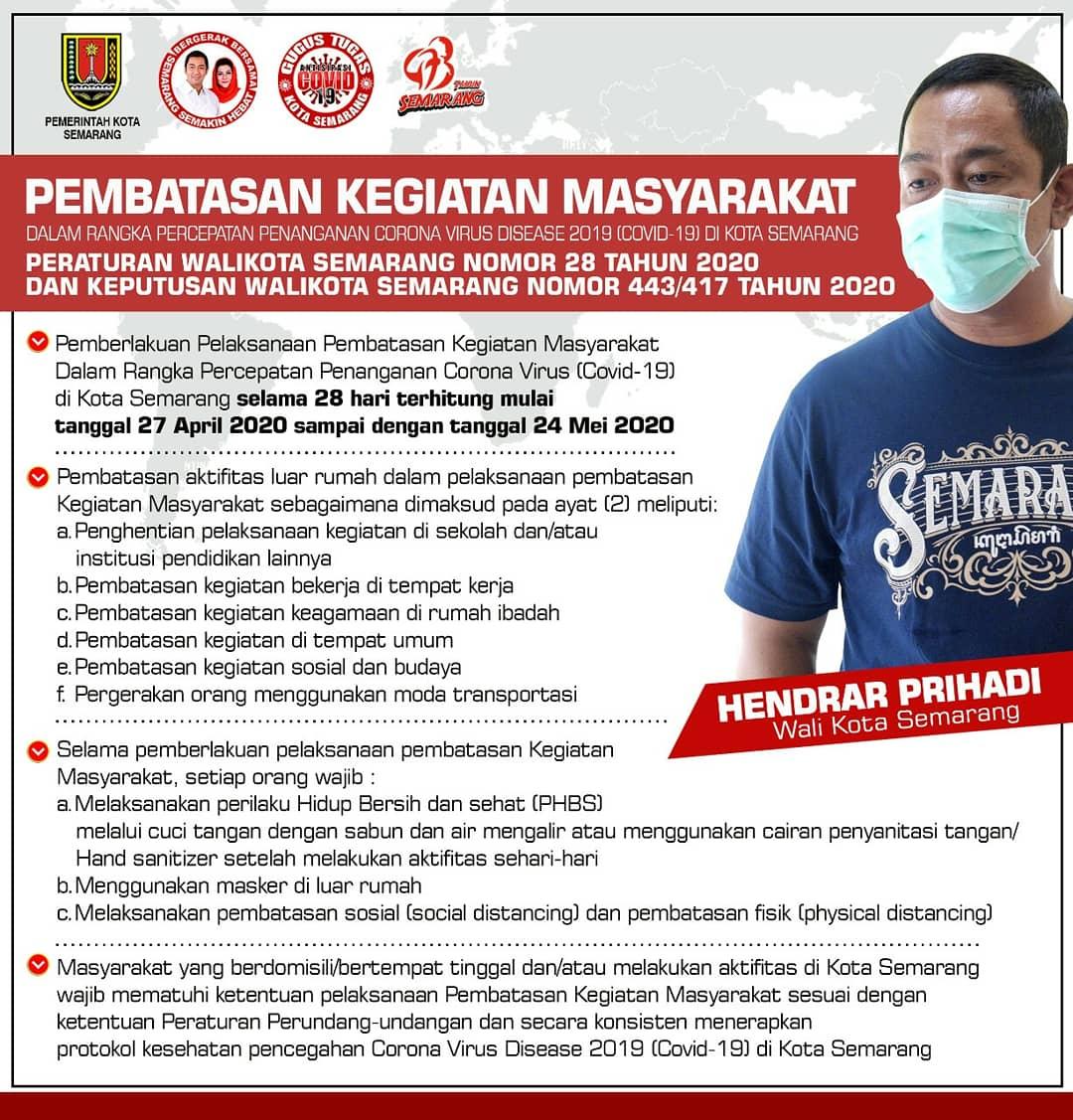 Pemkot Semarang Info Pembatasan Kegiatan Masyarakat Pemerintah Kota Semarang
