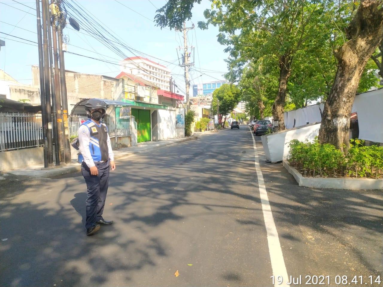 Giat Patroli Rutin dan penertiban parkir Jl. Pekunden Tengah dan Jl. Batan